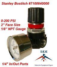 """7100640000  New Stanley Bostitch Air Compressor Regulator 1/4"""" NPT with Gauge"""