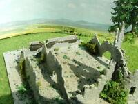 Ruine Burgruine Burg Turm 7-teiliger Bausatz GROSS RESIN Spur N Spur Z