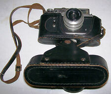 RARE ZOPKUU - 4 35mm Rangefinder Camera w3.5/50 Lens & Leather Case, FREE SHIP