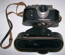 RARE ZOPKUU - 4 35mm Rangefinder Camera w3.5/50 Lens & Leather Case RUSSIAN USSR