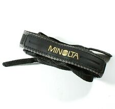 Minolta Original Woven Camera Neck Strap / Shoulder Strap - Black & Grey