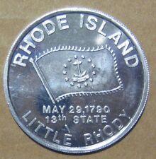 Rhode Island 13th State Little Rhody 1,214 Sq. Mi. Medal Aluminum