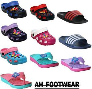 Boys Girls Kids Infants Eva Clogs Beach Summer Holiday pool Shower Mules Sandals