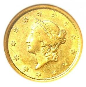 1852-O Liberty Gold Dollar G$1 - Certified NGC AU58 - Rare New Orleans Coin