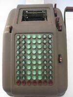 Vintage Antique Smith Corona Hand Crank Calculator Adding Machine