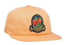 Huf Worldwide Cap Unstructured Strapback 6 Panel Hat Tenderloin Roses Coral Pink