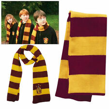 Warm Hufflepuff Harry Potter Cosplay Knit Winter Costume Scarf Wrap Fans Gift