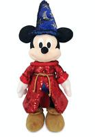 "Disney Sorcerer Mickey Mouse Sequin Plush – Fantasia 80th Anniversary 15"""