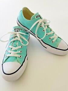 Converse All Star Aruba Turquoise Aqua Blue Canvas Shoes Women's Size 8
