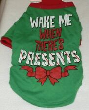 New Dog Christmas T-Shirt size Large Wake Me When There's Presents
