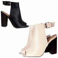 Women's Block Strappy, Ankle Straps Synthetic Leather Shoes