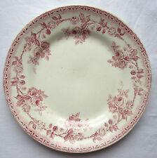 Assiette Art Nouveau Terre de Fer H.B. Choisy le Roi: Guirlande de roses 2/1