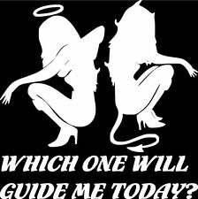 Angel/Devil Which one Will Guide Me Today? Vinyl Decal Sticker Car Truck Window
