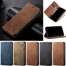 For iPhone 12 Pro 11 XS Max 7 8 Plus Retro Jeans Wallet Leather Flip Cover Case