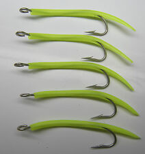 Saltwater fishing 5 pack  6/0 31022 Mustad UV Glow Tube hooks Striper jig lure
