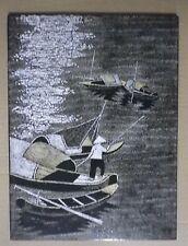 TABLEAU LAQUE EN COQUILLES D'OEUFS VIETNAM - Artisanat