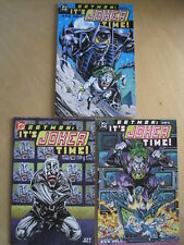 BATMAN : IT'S JOKER TIME ! :COMPLETE DELUXE 3 ISSUE SERIES by BOB HALL. DC. 2000