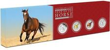 2014 Australia Lunar II - Horse 1oz Silver Typeset Coin Collection - Perth Mint
