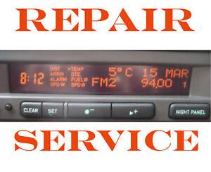 SAAB 95 9-5 SID SID1 SID2 SIU INFORMATION DISPLAY PIXEL REPAIR SERVICE