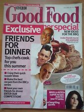BBC GOOD FOOD JUL 2001 Friends for dinner new BBQ ideas MF recipes Halloumi wine