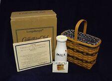 Longaberger 2000 C.C. J.W. Collection Miniature Bread & Milk Basket Combo
