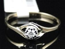 10K Ladies Yellow Gold Round Cut Diamond Solitaire Engagement Wedding Band Ring
