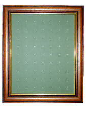 Golf Ball Marker Display Frame - For 63 Stem / Peg Markers - Mid Brown - Wall