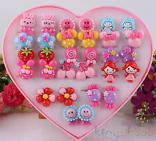 Cute 20 Pair Cartoon Earrings Clip-On No Pierced Design fit for Kids Child Girls