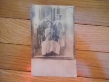Vintage Real Photo Postcard Woman Holding Jack Russell Terrier Dog
