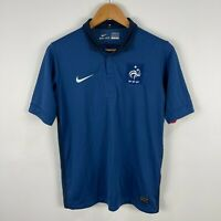 Nike France Football Jersey Shirt Youth Size XL Fits Mens XS Blue Short Sleeve