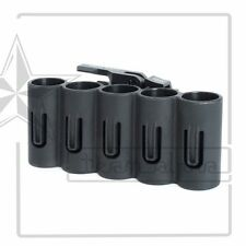 Black Quick Release 5 Shell Shotshell Holder For 12 Gauge Ammo Shotgun 20mm Rail