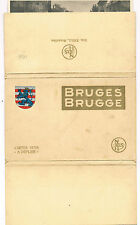 SIX UNUSED VIEW POSTCARDS OF BRUGES C1930'S IN PACKET ALL CONNECTED