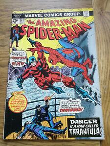 Amazing Spiderman 134 – Bronze Age Marvel – 1st Tarantula, 2nd Punisher NICE