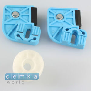 VW T5 Window Repair Set Sliders Gliders With Motor Pulley Front Right