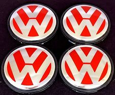 4pcs. NEW VW Jetta golf passat EOS Tiguan Center Wheel Cap  3B7 601 171 RED