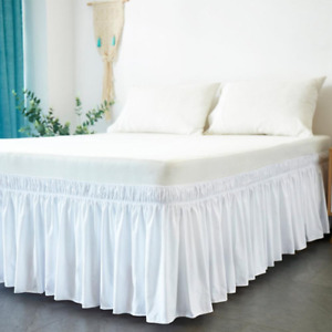Bed Skirt Wrap Around Elastic Bed Without Bed Surface Twin/Full/Queen/King Size