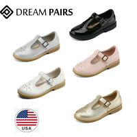 DREAM PAIRS Girls Dress Shoes Kids Princess Hook Loop Flats School Vintage Party