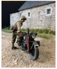 1/35 Escala Kit de modelo de resina Segunda Guerra Mundial US MP a partir de su motocicleta-figura solamente
