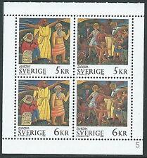 1995 SVEZIA FOGLIETTO EUROPA MNH ** - P30