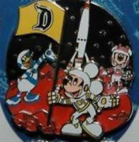 Disney Pin 56339 DLR Pinbassador Inspirations 2007 Mickey Minnie Donald Mars LE