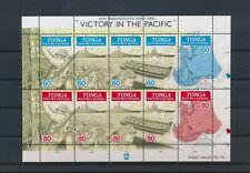 LM83136 Tonga anniversary Pacific Victory good sheet MNH