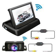 """Car Backup Camera Parking IR Night Vision & Wireless 4.3"""" TFT LCD Monitor Kit"""