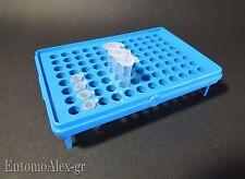 rack holder vassoio portaprovette contenitore 96 eppendorf 0.2 0.5ml x PROVETTE
