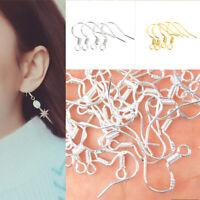 100X 925 Sterling Silver Earring Hooks Ear Wire Base Set For DIY Jewelry Making