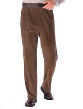 Pantaloni da uomo marrone in cotone taglia 54