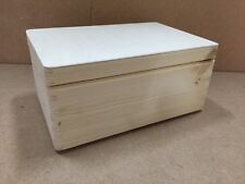 Natural finish large pine wood storage trunk DD168NH 30x20x14CM crate toy box