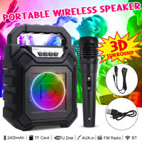 Bluetooth Wireless Portable Kareoke Roller Led Fully Amplified