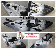 Single Fishing Kayak Sit on Rod Holders Canoe Black White Camo Paddle Seat