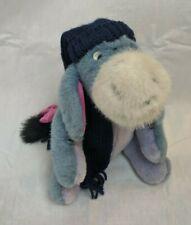Disney Boyds Eeyore Winnie the Pooh Jointed Plush w/ Scarf & Hat Stuffed Toy