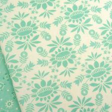 Moda ~ Cosmo Flower Duck Egg Fabric / quilting stocking cream tree mistletoe